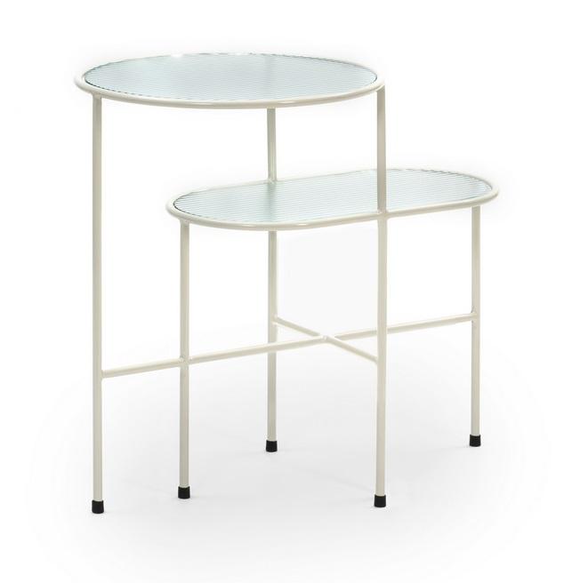 Nix mesa de rincon metal crema 60x40