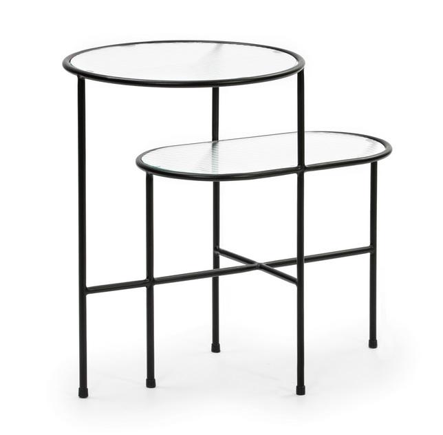 Nix mesa de rincon metal negro 60x40