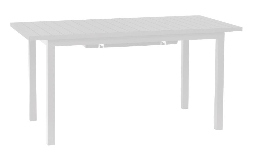 Mesa extensible lamas aluminio blanco Auto 156-226x75