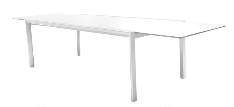 Mesa extensible Themis aluminio blanco 220-330x104