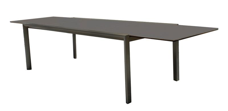 Mesa extensible Themis aluminio negro 220-330x104