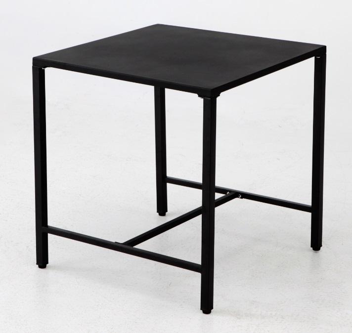 Mesa Deco metal negro 70x70