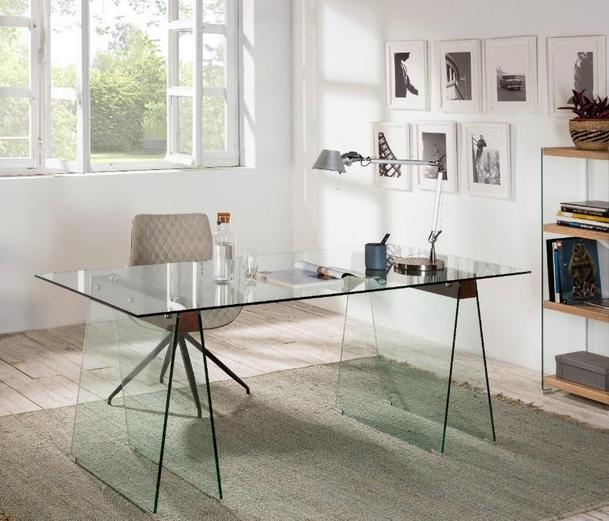 Mesa escritorio Sidney cristal madera 180x90 DT-808