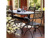 Mesa de jardin hierro Achille 160x80