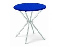 Mesa Jimmy azul redonda 70