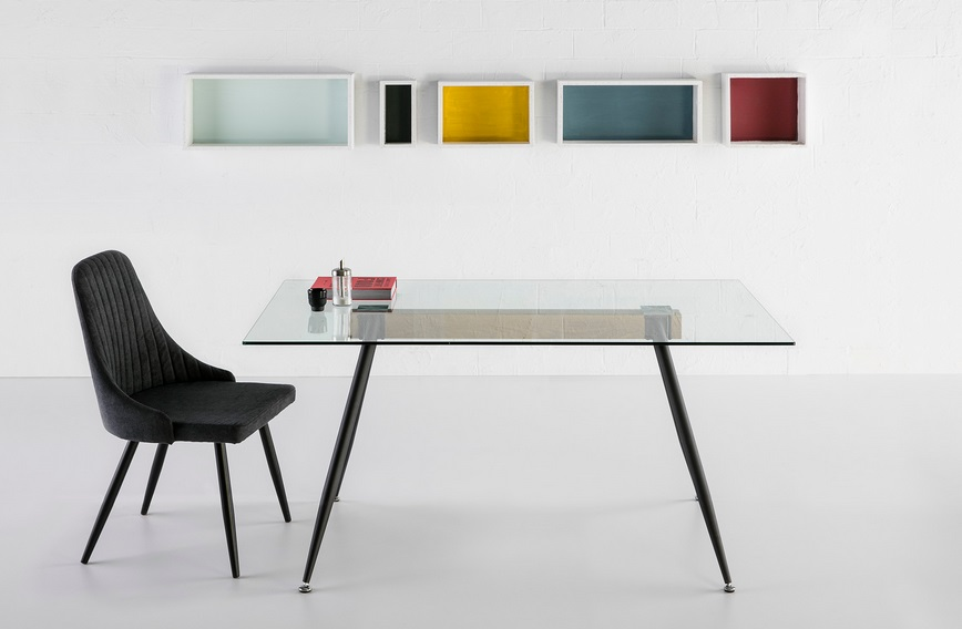 Mesa de comedor minimalista industrial tempo 150x80