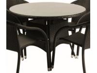 Mesa rattan negro Remo 106 cm