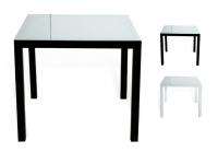 Mesa aluminio negro Taha 80x80