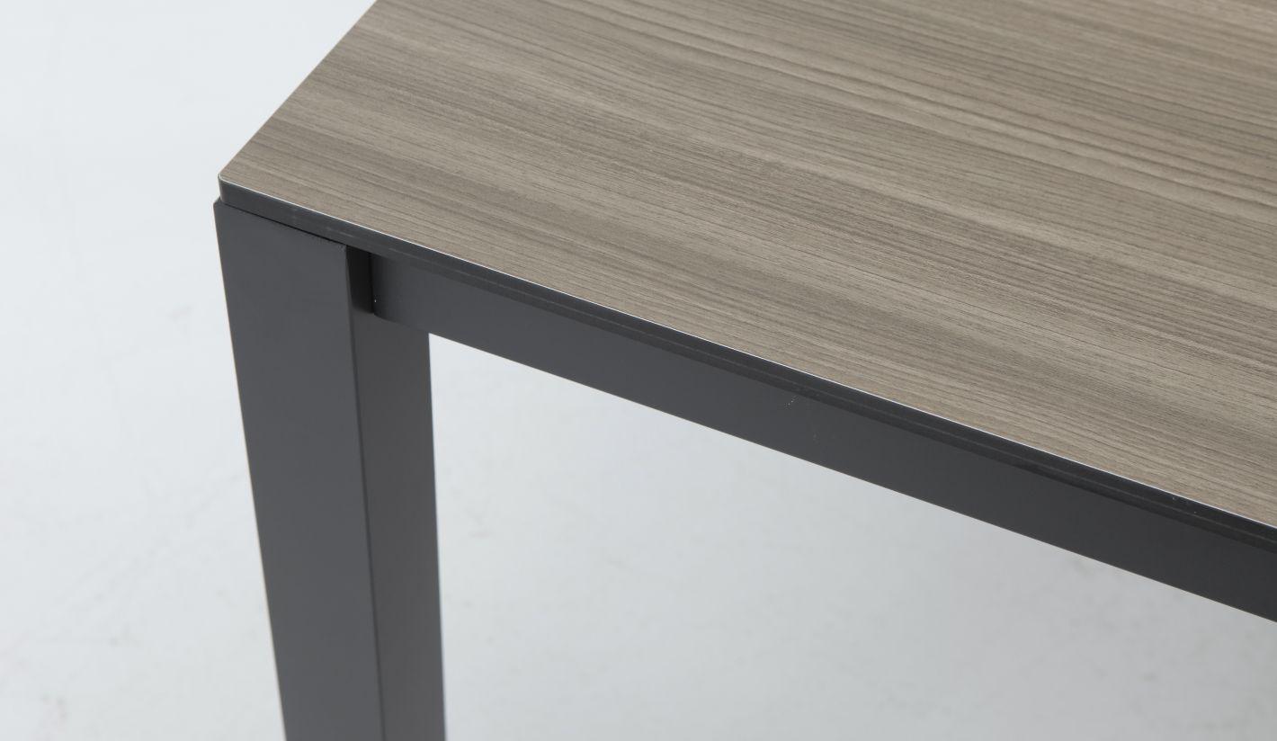 Mesa terraza Combo imitacion madera aluminio antracita 180x100