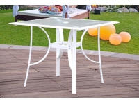 Mesa terraza aluminio blanco ibiza 90x90