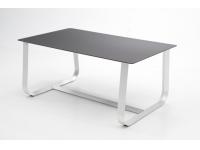 Mesa aluminio cristal negro Santorini 170x100