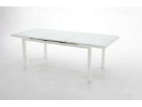Mesa terraza extensible aluminio blanco Taha 170-200x100