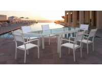 Mesa terraza extensible Formentera blanco 270