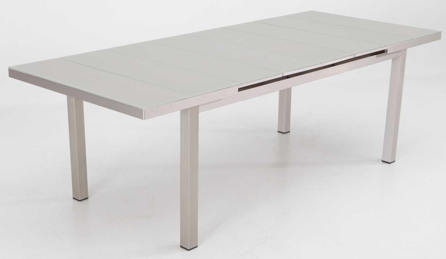 Mesa terraza aluminio anodizado extensible Karibu 180-240x100