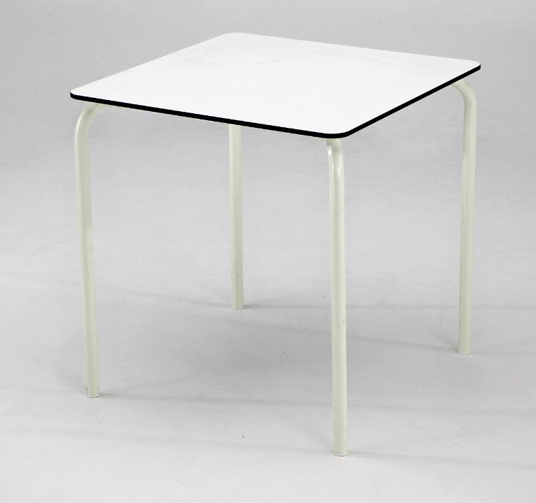 Mesa de terraza tablero blanco compacto plus 70x70