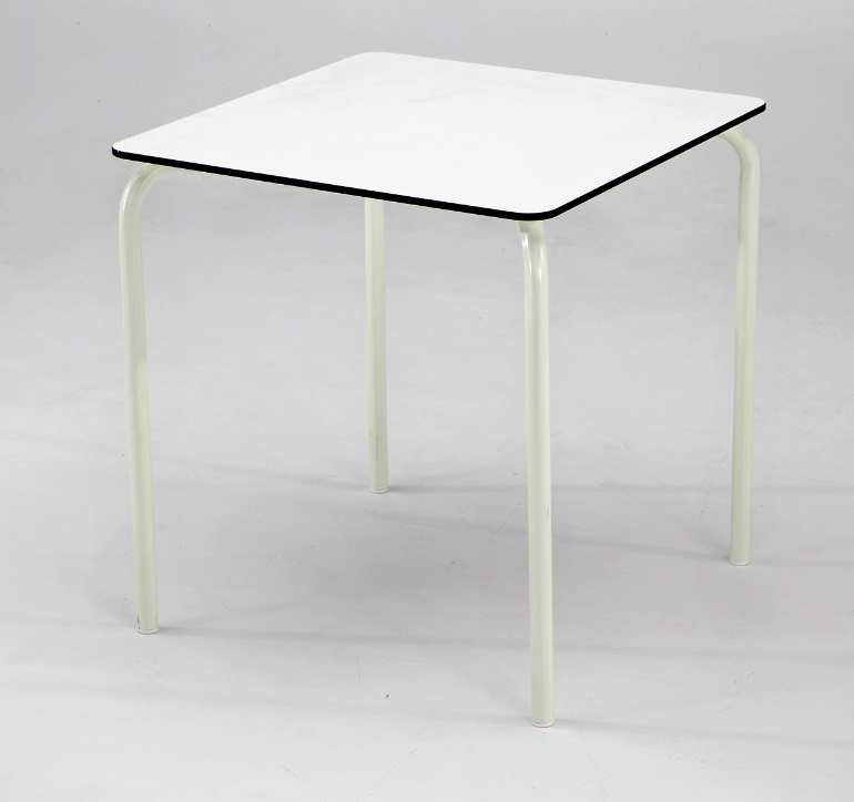 Mesa de terraza tablero blanco compacto plus 80x80
