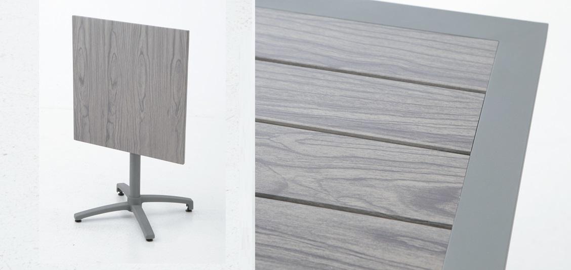 Mesa aluminio lamas plegable Suez 70x70