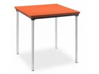 Mesa apilable imitacion rattan naranja