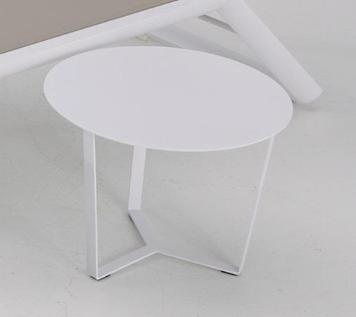 Mesa auxiliar aluminio blanco para tumbona