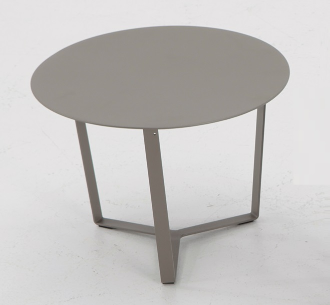 Mesa auxiliar aluminio gris para tumbona