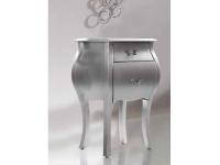 Mesita de noche art nouveau plata