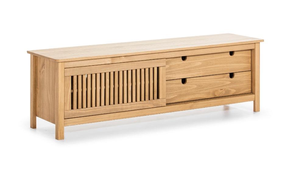 Mueble TV Bruna madera de pino a la cera 158cm