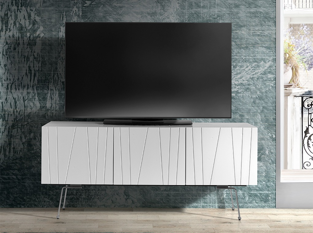 Mueble TV imperio blanco brillo 150 cm