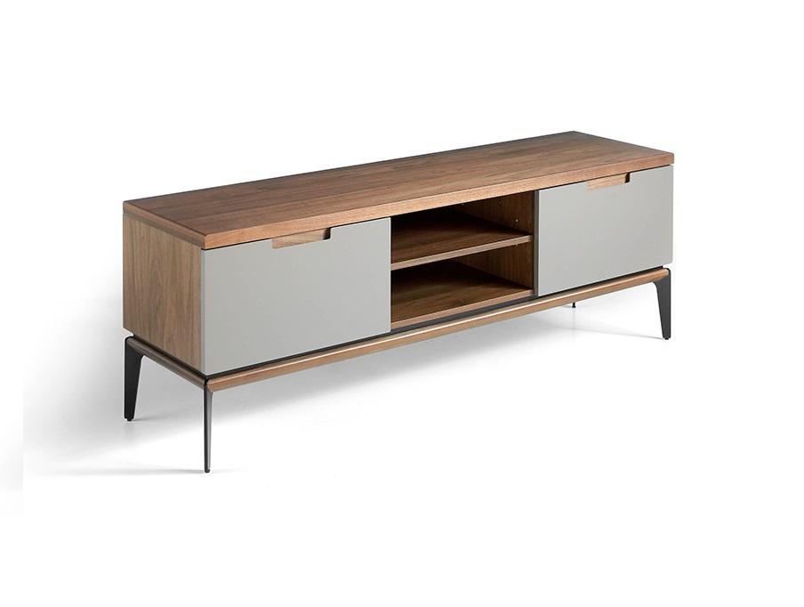 Mueble TV Logano nogal gris taupe 150 cm