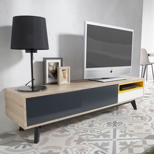 Mueble TV Moscu roble canadian 160 cm