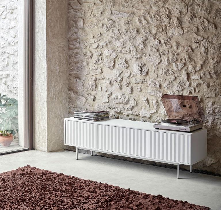 Mueble TV sierra blanco 180