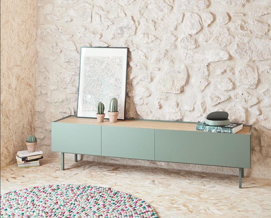 Mueble TV arista verde 180
