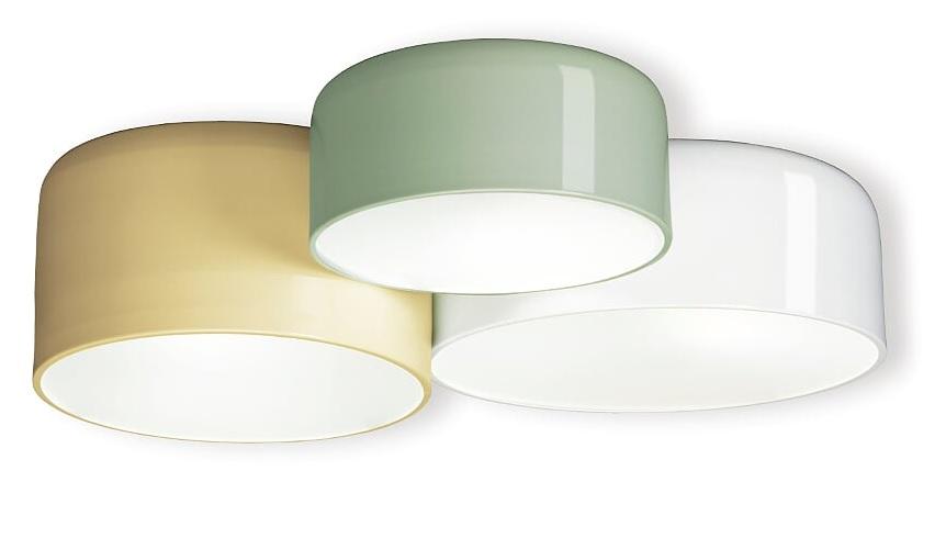 Lampara plafon circulos metal 50x57