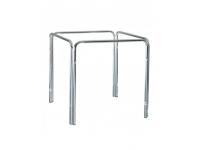 Pie aluminio cuadrado apilable 110x70 cm
