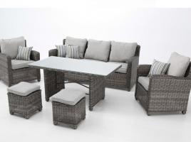 Set sofas terraza comedor rattan bahamas