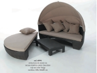 Cama lounge rattan combi
