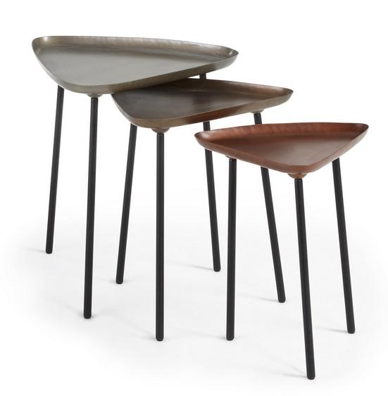 Set mesas auxiliares industrial zinc laton cobre