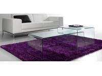 Set 2 mesas de centro cristal templado