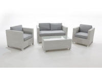 Set sofas rattan blanco Artic