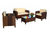 Set sofas rattan Lola chocolate