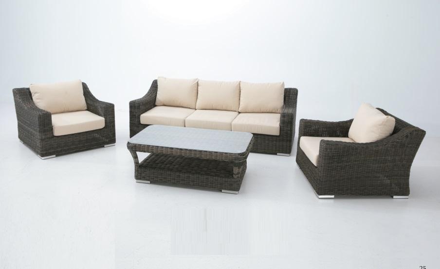 Set sofas terraza Torino luxe