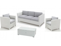 Set sofas rattan blanco Artic 5 plazas