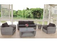 Set sofas rattan gris redondo Petra
