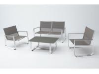 Set sofa terraza Esparta aluminio y textilene
