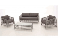 Set sofas rattan abierto gris Light