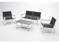 Set de terraza Mikonos aluminio y textilene