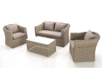 Set sofas terraza rattan natural java