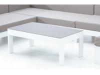Mesa de centro aluminio blanco Laos 100x60