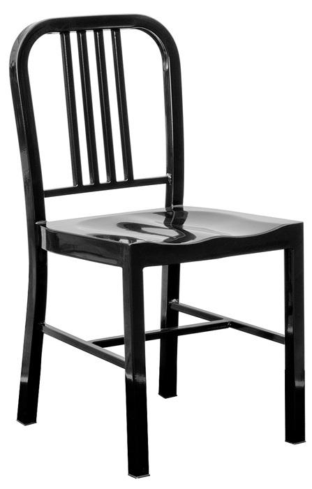 Silla navy acero negro