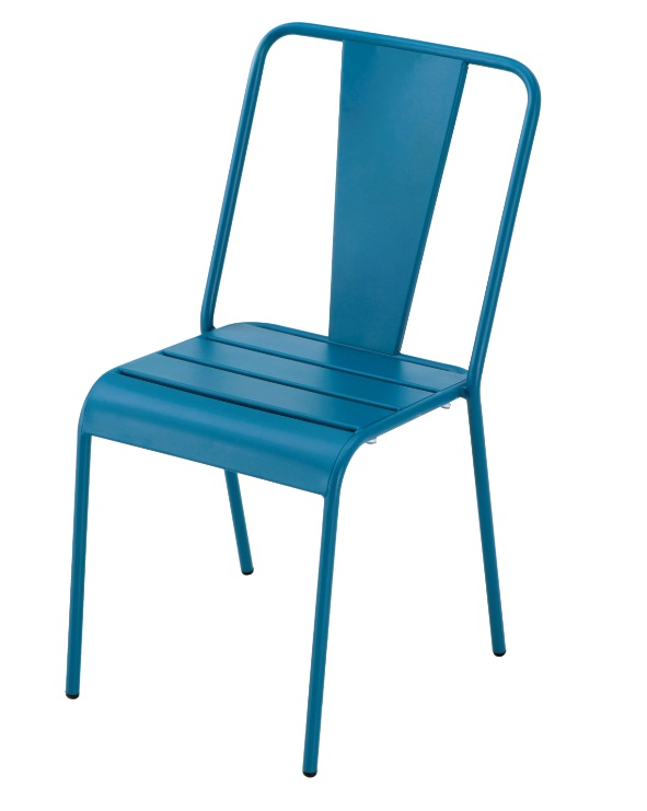 Silla Any tolix metal azul