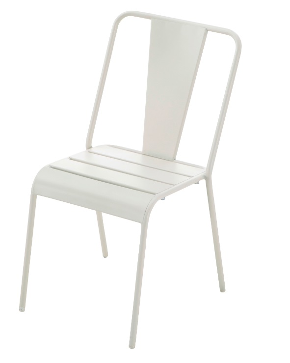 Silla Any tolix metal blanco